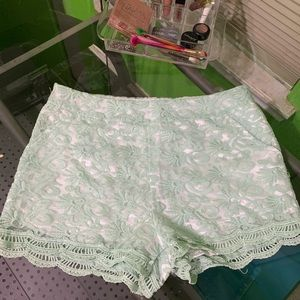 High Waisted laced shorts